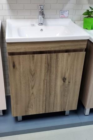 啡木紋不銹鋼面盆連櫃700Wx860Hx460D(BS25037046B)