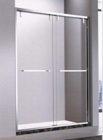不銹鋼黑鋼灰片幼框雙趟門 (BR42)