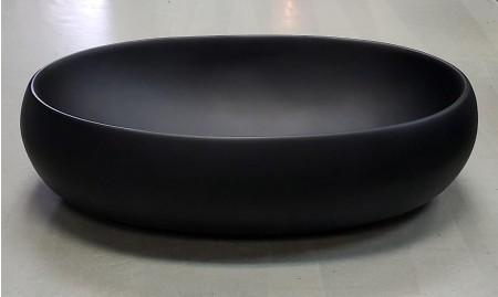 啞黑色橢圓形坐枱面盆 (6041PB)