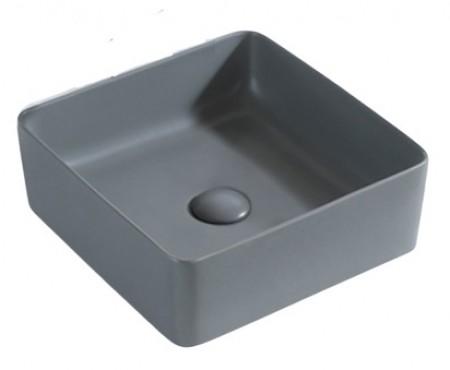 灰色方形坐枱面盆 (1002G)