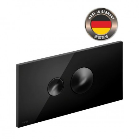 Viega Style 10入牆式水箱用黑色沖水面板(83151BK)