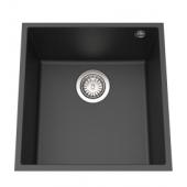 Elleci Quadra102黑色花崗岩廚房台下石盆440x440mm(Quadra102U)