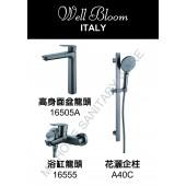 Well Bloom Italy 165系列太空灰色3件龍頭優惠套裝 (3SET165ASG)