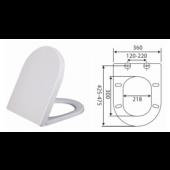 GEMIO 白色油壓廁板 (C201)