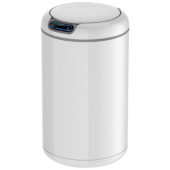EKO 9L 高光白自動感應垃圾桶(9255-9L白)