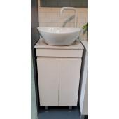 啞白色不銹鋼浴室盆櫃套裝(MWA082)