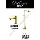 Well Bloom Italy 熱賣700系列拉絲金龍頭連雨淋套裝(700MGSET)