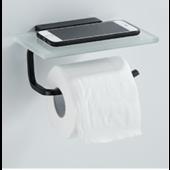 黑框玻璃廁紙架(G60PB)