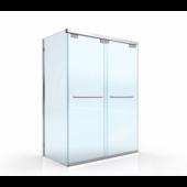 EAGLE BFN不銹鋼無企框緩衝雙趟門加轉角梗 (BFN-L01)