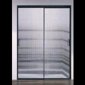 長虹玻璃不銹鋼黑框雙趟門 (BR402)