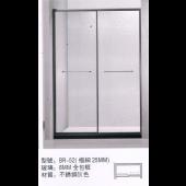 不銹鋼灰色極幼框邊雙趟門 (BR52)
