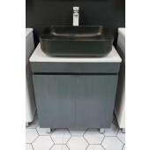 黑木紋不銹鋼浴室盆櫃套裝(BW78109)