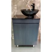黑木紋不銹鋼浴室盆櫃連龍頭套裝(BW8109)