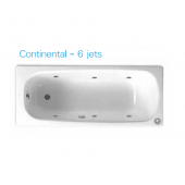 ROCA Continental 1.5m浴缸連6噴咀按摩系統(6JET212913)