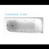 ROCA Continental 1.6m浴缸連6噴咀按摩系統(6JET212912)