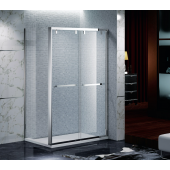 EAGLE 不銹鋼玻璃浴屏趟門加轉角 (FI-L01)