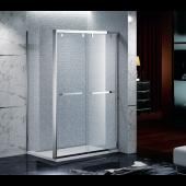 EAGLE 不銹鋼玻璃浴屏趟門加轉角 (GF-L01)