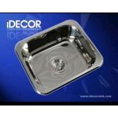 Idecor 不銹鋼台上星盆(E1014) 445mm x 385mm