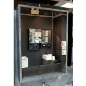 水泥紋不銹鋼雙門鏡櫃600X800mm (MC6080CC)