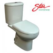 Star低咀白色分體座廁 (S2668)