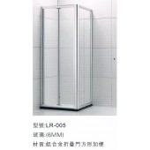 鋁合金摺門方形加梗 (LR07-L)