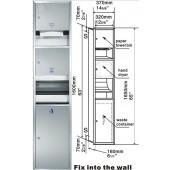 GEISAR 自動乾手機連手拉式出紙機及廢紙箱(GSG82-25)